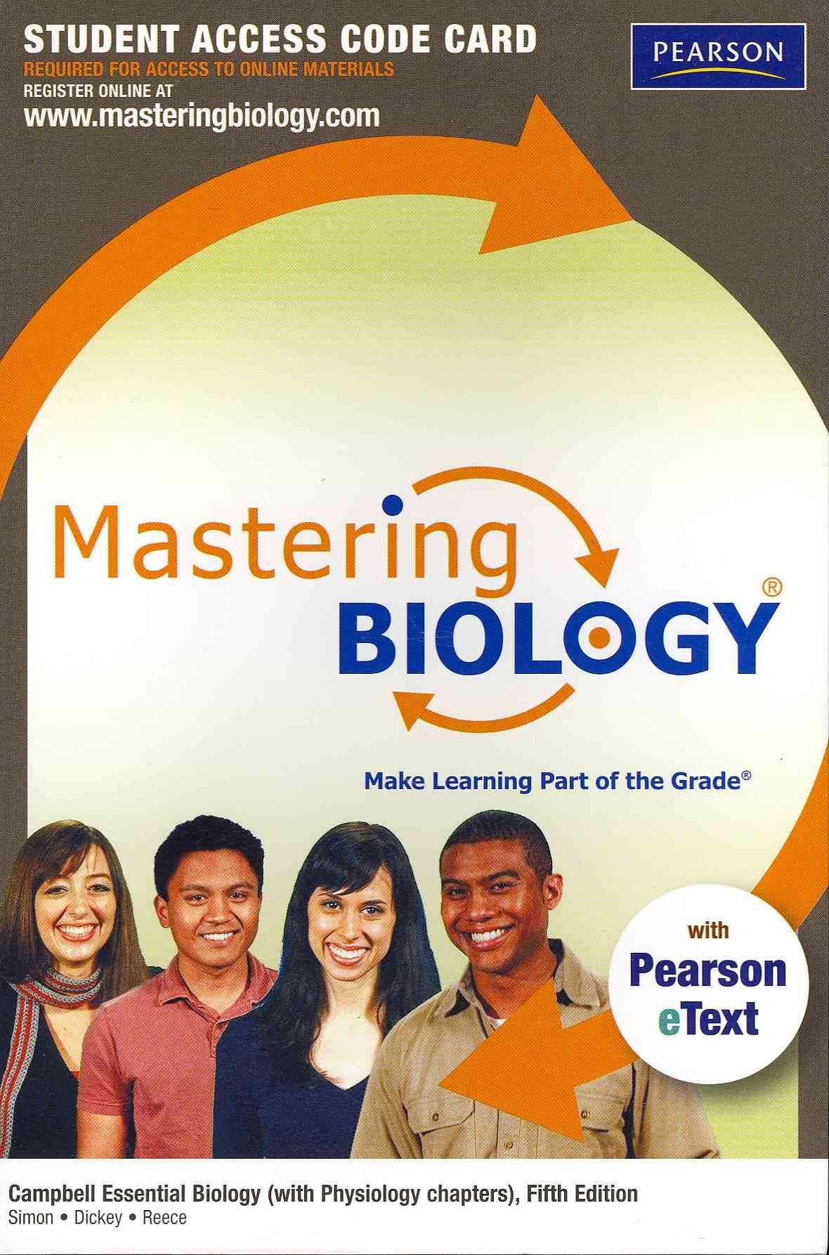 Benjamin-Cummings Publishing Company Masteringbiology with Pearson Etext -- Standalone Access Card -- For Campbell Essential Biology (with Physiology Chapters) (5th at Sears.com
